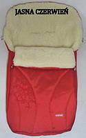 Спальный детский конвертик Snowflake на овчине Womar № 25 (zafiro) красный