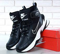 Мужские кроссовки Nike M2K Tekno Winter Black. ТОП Реплика ААА класса., фото 2