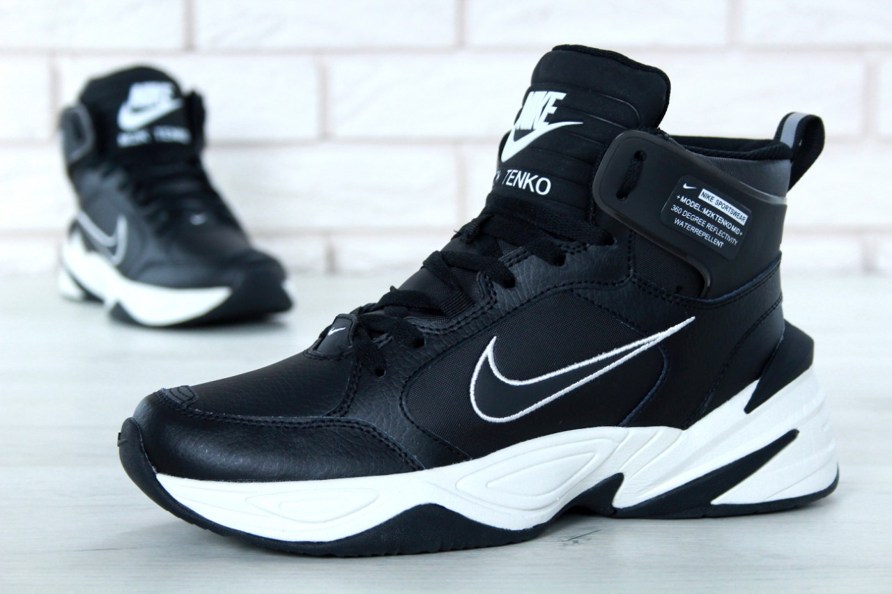 Мужские кроссовки Nike M2K Tekno Winter Black. ТОП Реплика ААА класса.