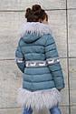 Пальто зимнее на девочку Лин ТМ Nui Very Размеры 116 - 158, фото 4