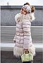 Пальто зимнее на девочку Лин ТМ Nui Very Размеры 116 - 158, фото 6
