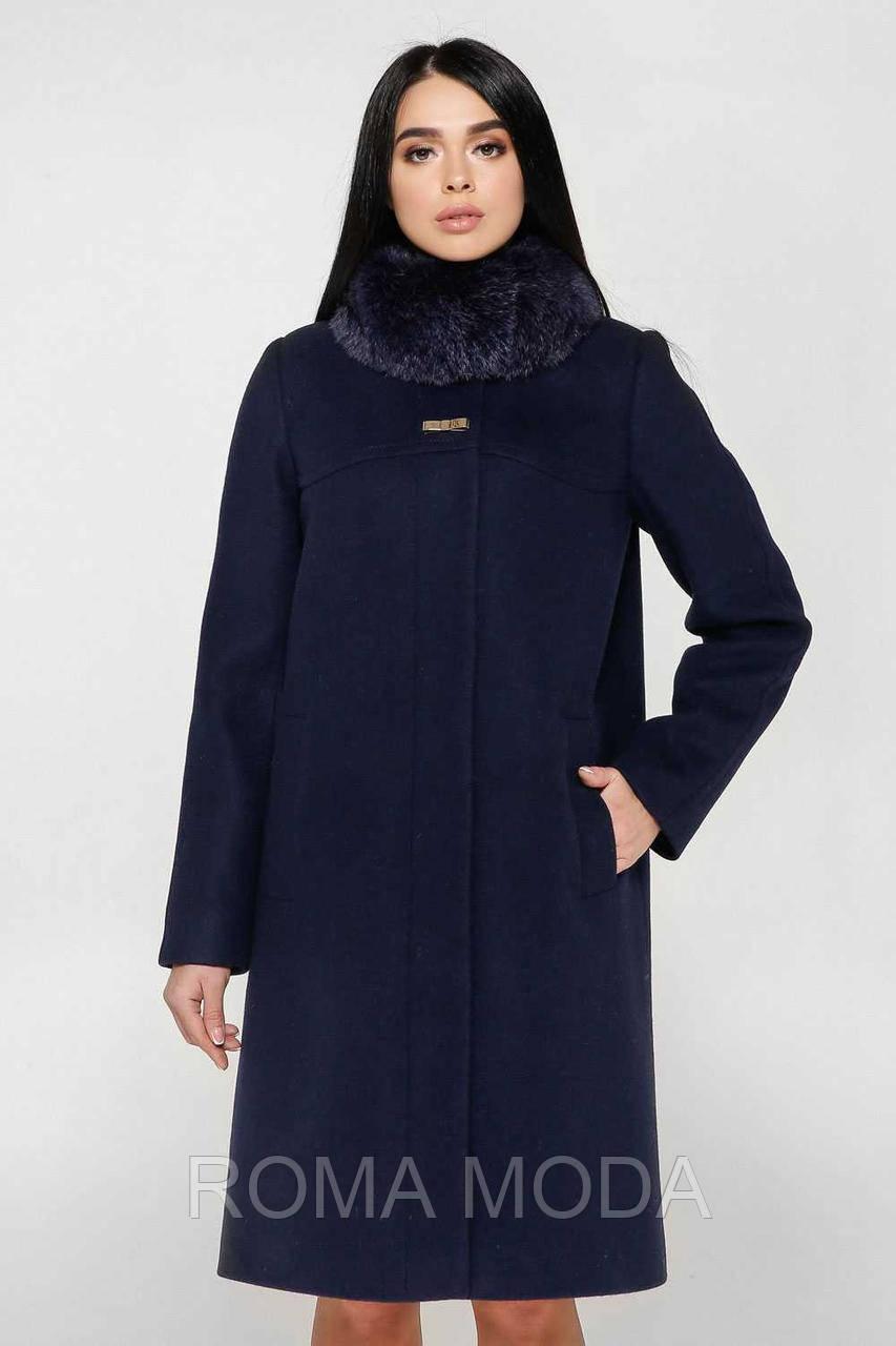 Пальто зимнее женское в 4х цветах П-990/1 н/м Шерсть пальтовая