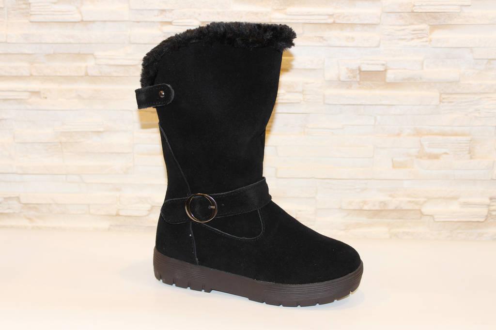 Сапоги женские зимние черные замшевые Tamogo-240 e8127355d7462