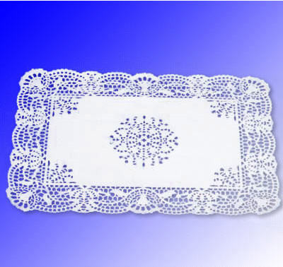 Салфетка ажурная бумажная 20*30см Франция