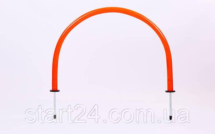 Арка тренировочная (1шт) YT-T160-1 (пластик, металл, h-35см, l-52см, оранжевый), фото 2