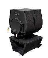 Отопительная конвекционная печь Rud Pyrotron Кантри 01 с варочной поверхностью (отапливаемая площадь 80 кв.м.  Обшивка декоративная (черная)