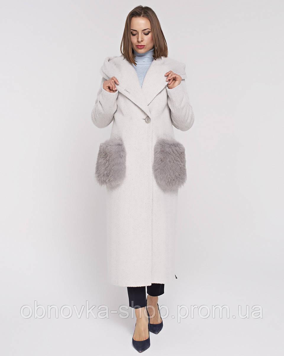 Зимнее пальто с меховыми карманами Mangust 5078 - Интернет-магазин одежды и  обуви в Харькове c562f624d5b1e