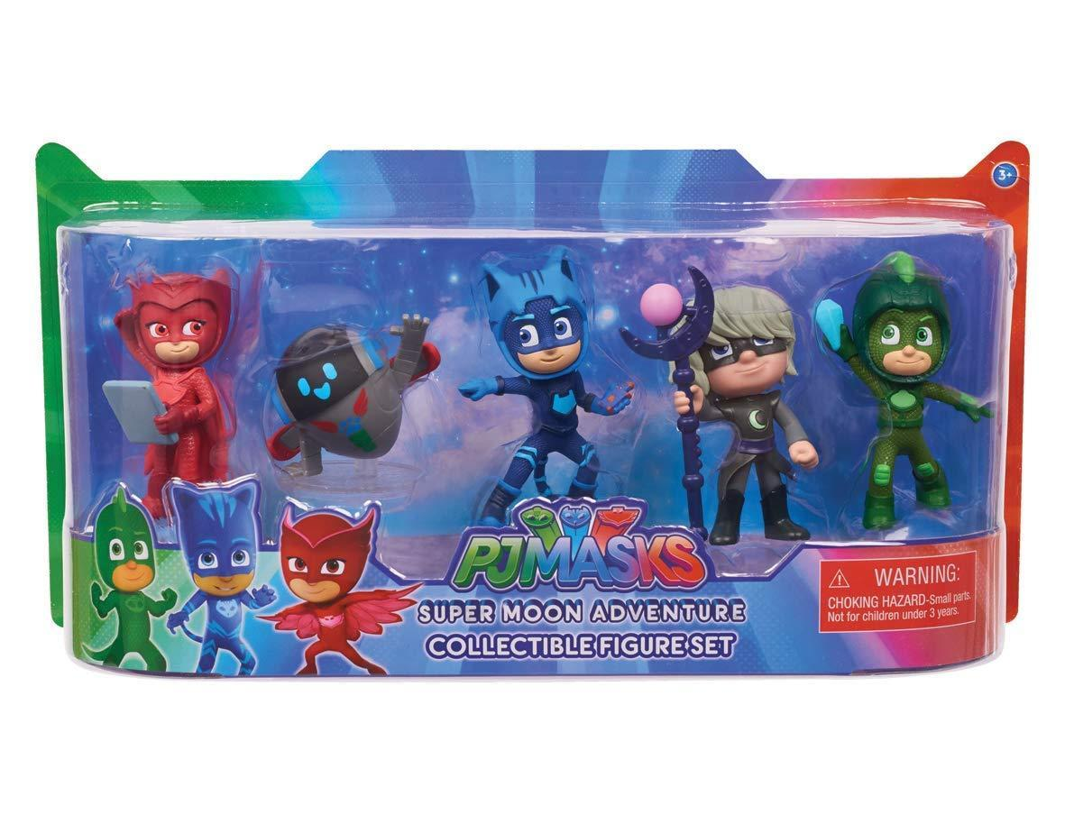 Набор Герои в масках Оригинал PJ Masks Super Moon Adventure Collectible Figures (5 фигурок)