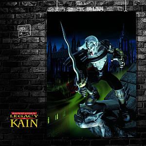 Постер Наследие Каина, Legacy of Kain, Blood Omen, Soul Reaver, вампир. Размер 60x43см (A2). Глянцевая бумага
