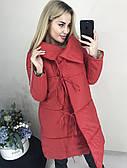 Зимняя куртка женская теплая длинная  42-46 рр. хаки, красный