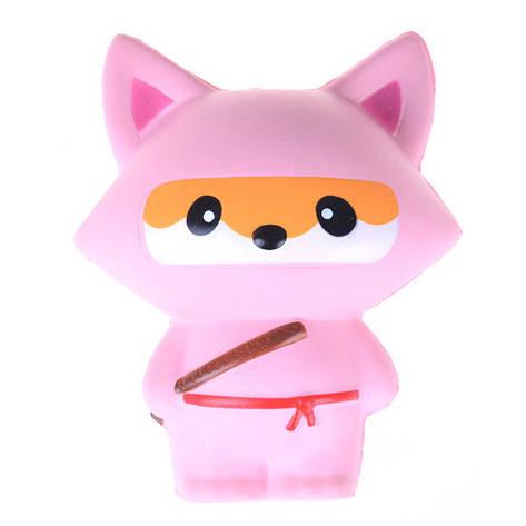 Сквиши игрушка антистресс Лиса ниндзя большая, фото 2