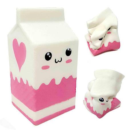 Сквишь, антистресс игрушка Коробка молока, фото 2