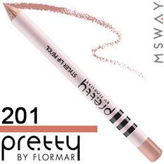 FlorMar PRETTY - Карандаш для губ Тон 201 nude beige, светлый телесный нюд матовый