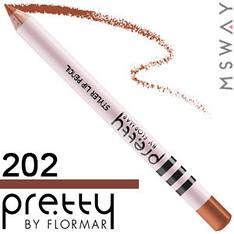 FlorMar PRETTY - Карандаш для губ Тон 202 light nougat, натурально терракотовый матовый