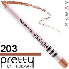 FlorMar PRETTY - Карандаш для губ Тон 203 choco milk, натуральный с розовинкой матовый