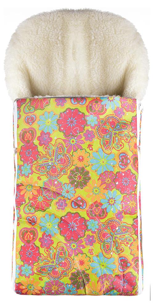 Зимний конверт Наталка NT-012  салатовый (цветы, бабочки)