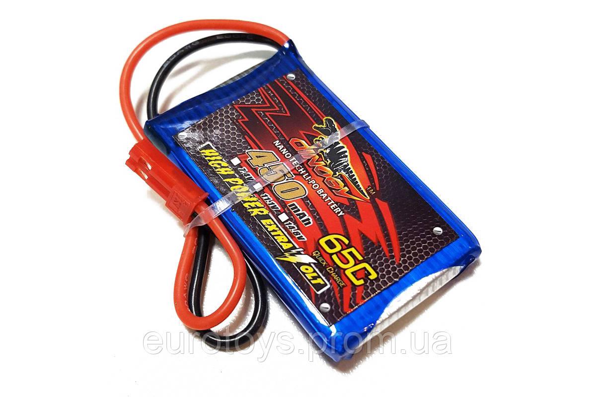 Аккумулятор для радиоуправляемой модели Dinogy Li-Pol 450 мАч 3.7 В 53x30x8 мм JST 65C