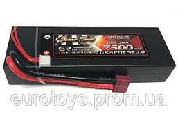 Аккумулятор для радиоуправляемой машинки Giant Power (Dinogy) Li-Pol 7500 мАч 7.4 В Hardcase 139x46x25 мм