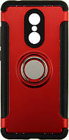 Чехол-накладка TOTO TPU Case Ring series 2 in 1 Xiaomi Redmi 5 Red, фото 1
