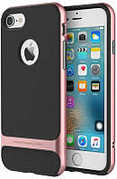Чехол-накладка Rock TPU+PC Case Royce Series Cross iPhone 5/5S/SE Rose Gold