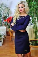Платье 0660 / темно - синий