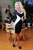 Платье 0653 / черный / белый
