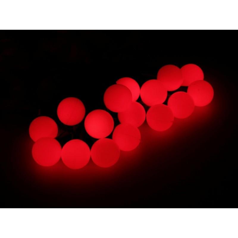"""Гирлянда """"Шарики"""" 50 LED 6м на черном проводе красная"""