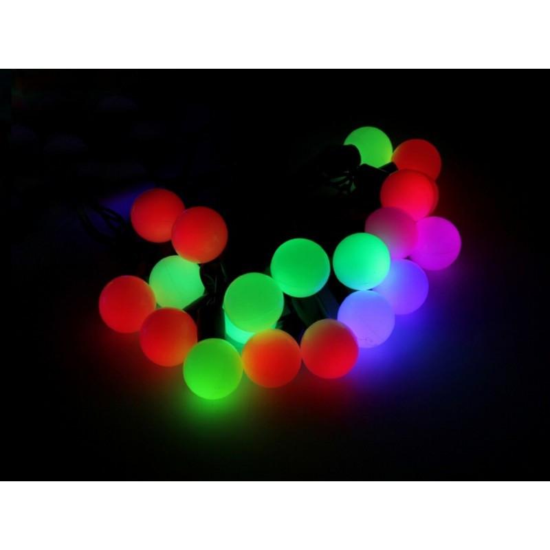 """Гирлянда """"Шарики"""" 50 LED 9,5м на черном проводе разноцветная RGB"""