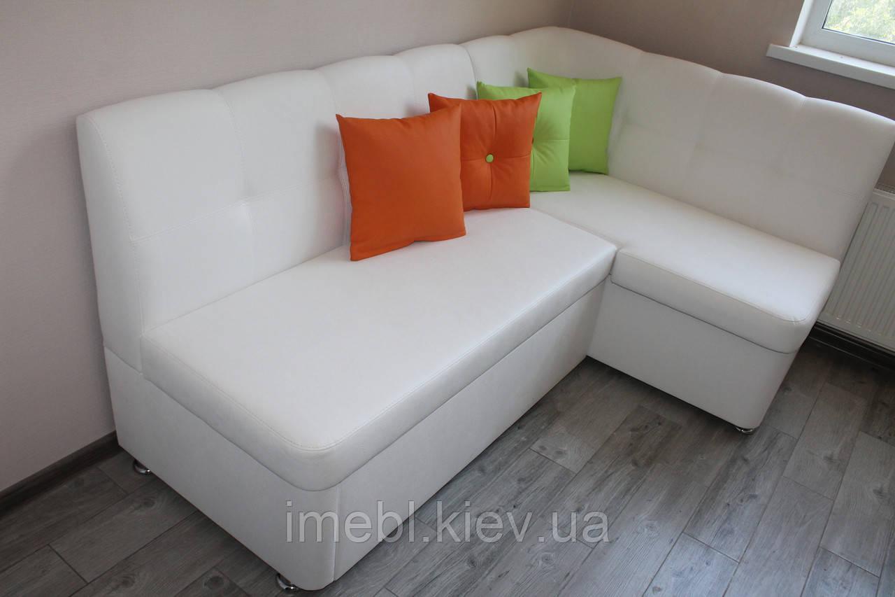 Кухонный уголок со спальным местом в маленькую кухню (Белый)