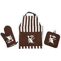 Набор для кухни Lefard Поваренок (фартук,прихватка,рукавичка) 001HT