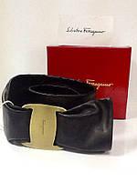 Ремень пояс женский в стиле Salvatore Ferragamo кожаный натуральный, фото 1