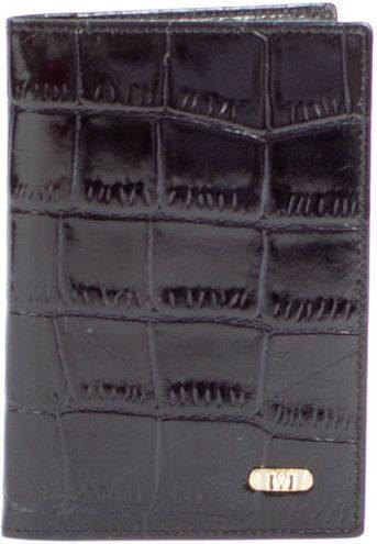 Изысканная кожаная обложка для паспорта WANLIMA (ВАНЛИМА) W120467401494-black