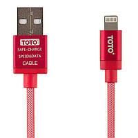 Кабель TOTO TKG-29 Silk Sreen Metal USB cable Lightning 1m Red