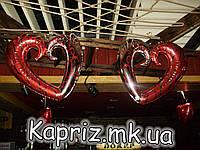 Фольгированное сердце-вензель с гелием