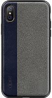 Чехол-накладка Rock TPU+PU Origin Pro Series Case Apple iPhone X Blue