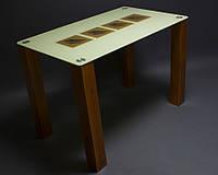 """Стол стеклянный """"Вихрь"""" стол для гостинной или кухни"""