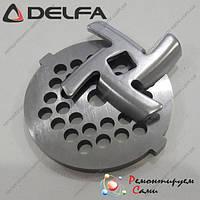 Нож для мясорубки Delfa оригинал и решетка