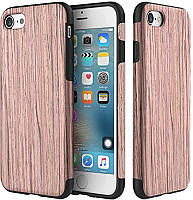 Чехол-накладка Rock Wood+TPU Origin Series (Grained) Case Apple iPhone 7 Plus Sandalwood