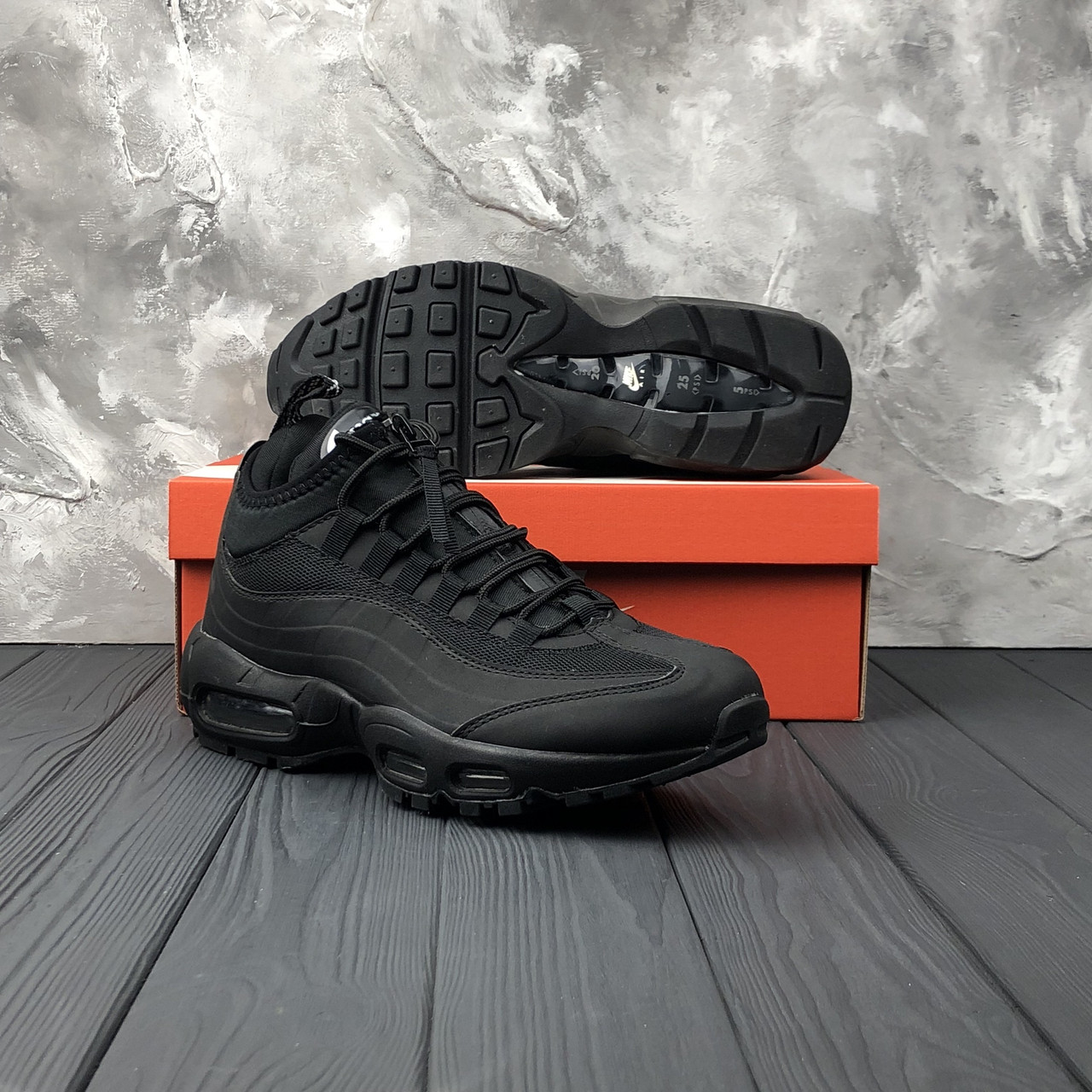 Мужские Кроссовки Nike Air Max 95 Sneakerboot Dark Brown Black