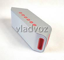 Портативная блютуз колонка акустика bluetooth для телефона мини с флешкой повербанк радио FM серая S204, фото 2