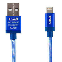 Кабель TOTO TKG-29 Silk Sreen Metal USB cable Lightning 1m Blue