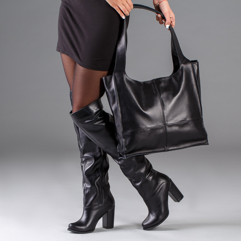 Модные высокие сапоги широкие в щиколотке на высоком каблуке размеры 36-41
