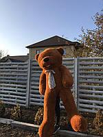 Большой плюшевый медведь Дейман 210 см коричневый