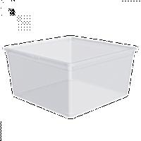 Контейнер пластиковый с крышкой для хранения вещей серия ЕВРО 17,5 л 38,5Х38,5Х16 см Алеана OST-134