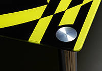 """Стол стеклянный """"Абстракция""""  стол для гостинной или кухни"""