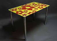 """Стол стеклянный """"Цветение""""  стол для гостинной или кухни"""