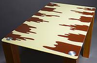 """Стол стеклянный """"Шоколадный""""  стол для гостинной или кухни"""