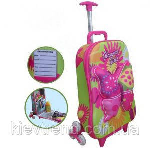 """Детский дорожный чемодан на колесах """"Бабочка"""" JO"""