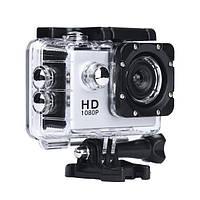 Спортивная экшн видеокамера с креплением на шлем A7 Sports HD 1080p - Серебристый корпус