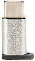 Переходник Remax RA-USB1 micro-type-c Silver